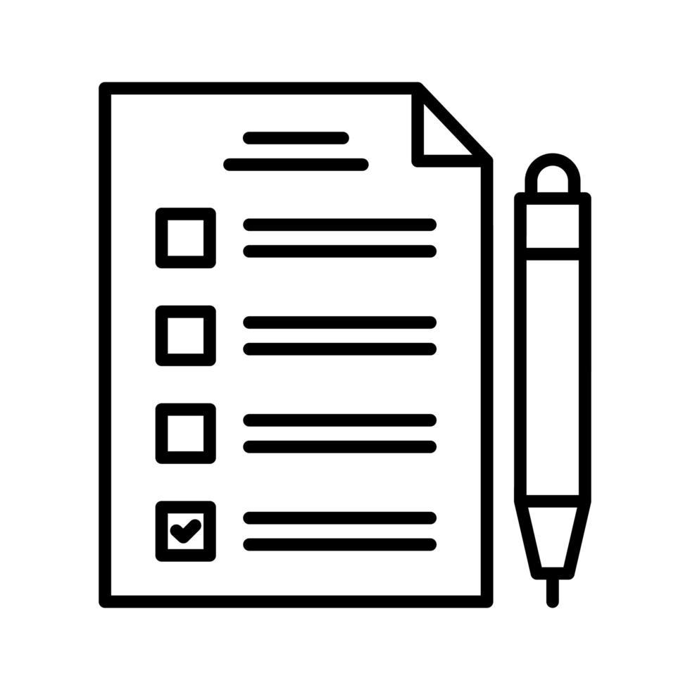 Checkliste Vektor Icon