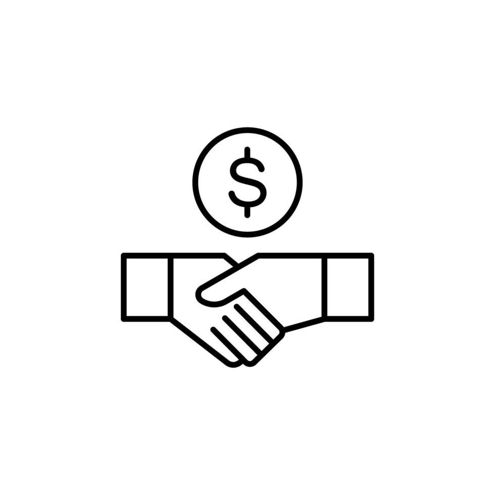 affärsavtal ikon vektor