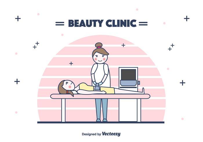 Skönhetsklinik Behandlingsvektor vektor
