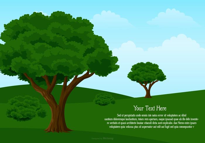 Landschaft Illustration mit Platz für Text vektor