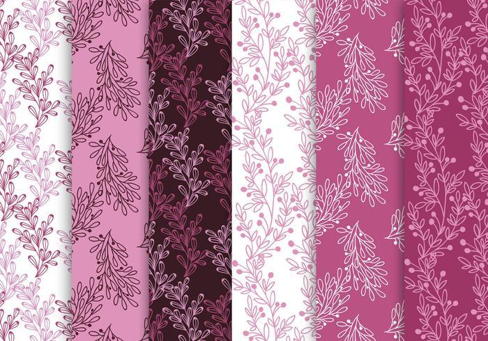 Rosa och lila mönsteruppsättning vektor