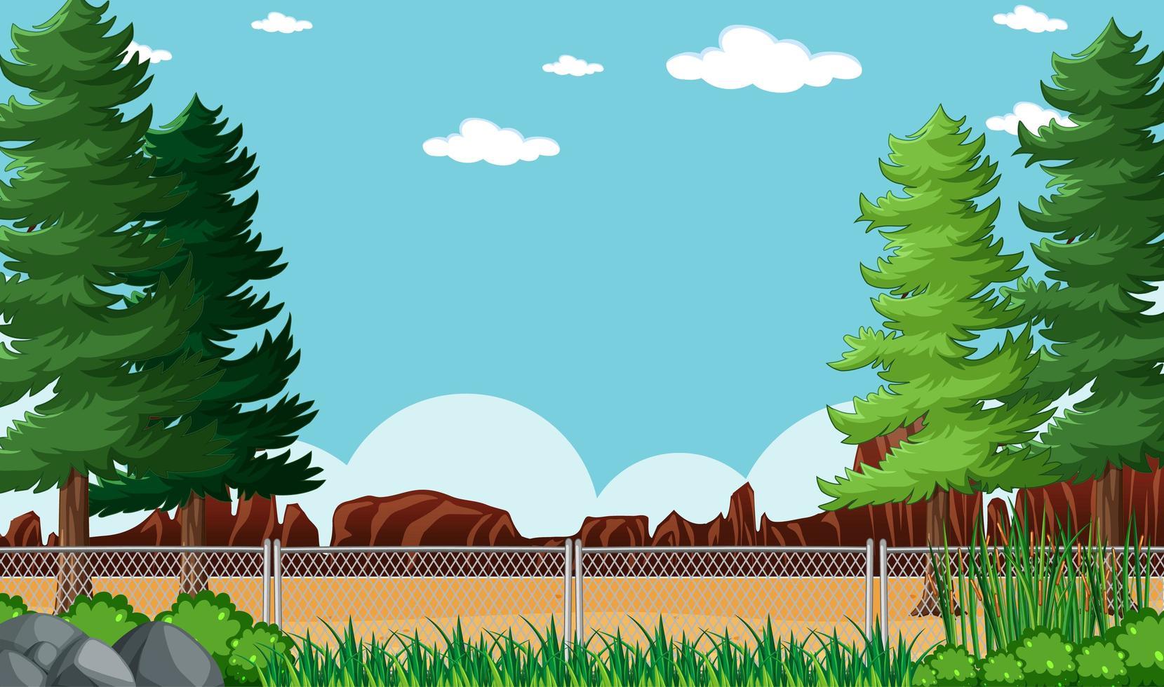 leere Hintergrund Naturpark Landschaft vektor