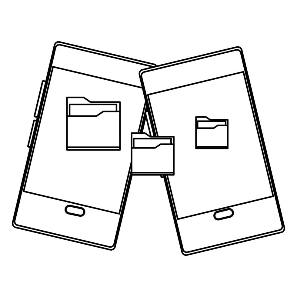 kommunikations- och smartphone-mobilikonen vektor