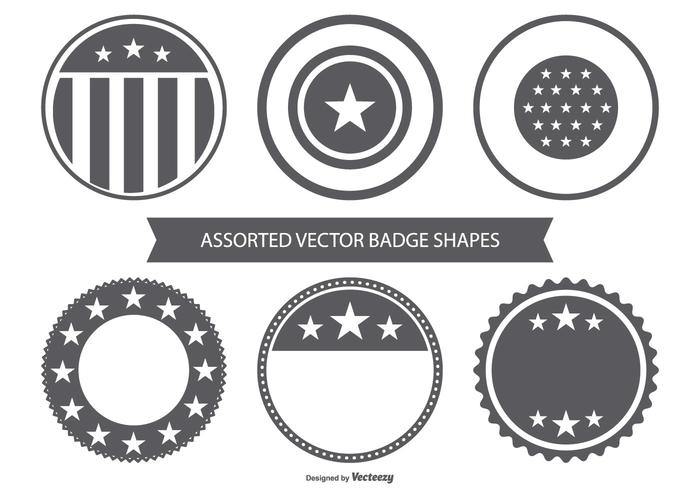 Blank Vector Badge Collection