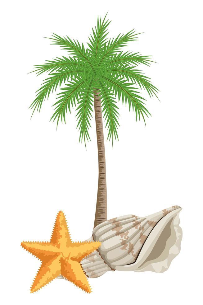 sommar, strand och tropisk semesterkomposition vektor