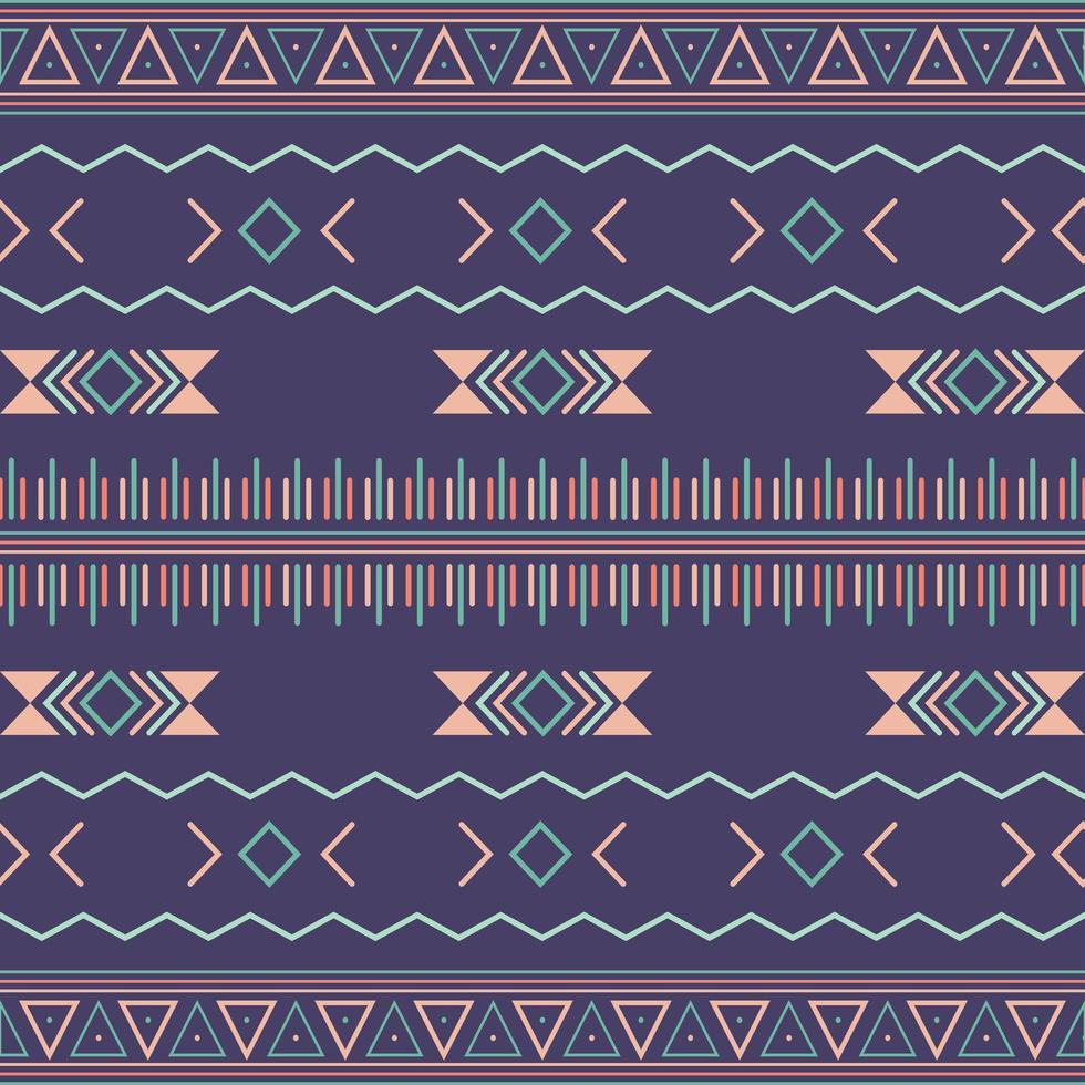 Aztec stam sömlösa mönster med geometriska element vektor