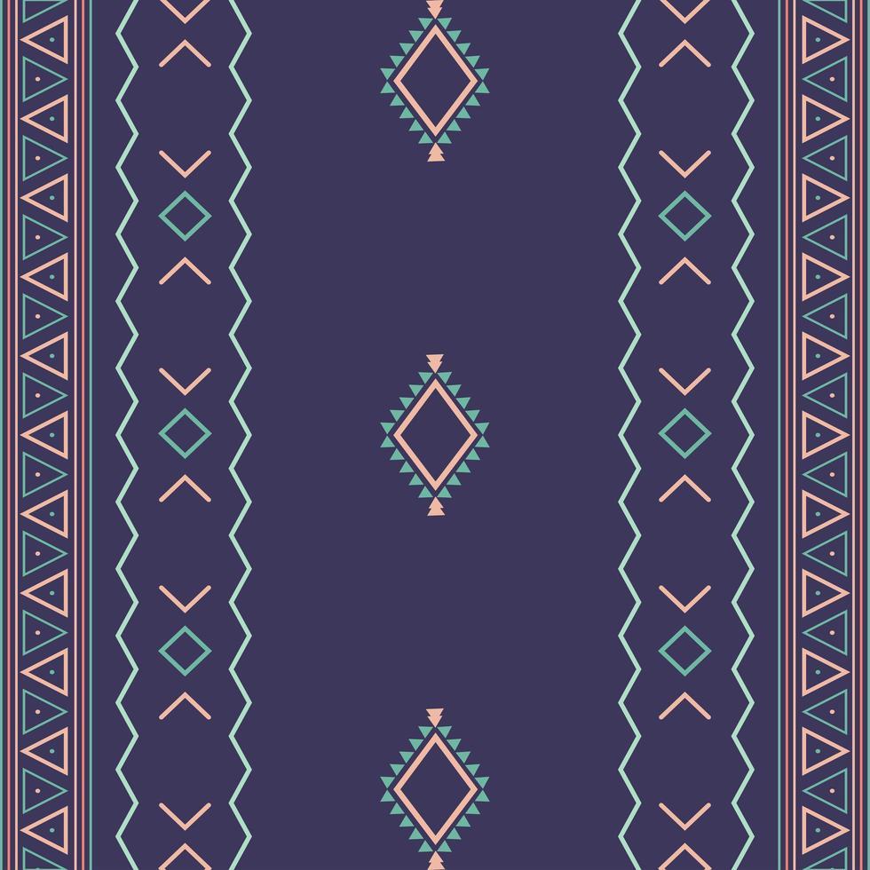 aztec etniska stam sömlösa mönster med geometriska former vektor