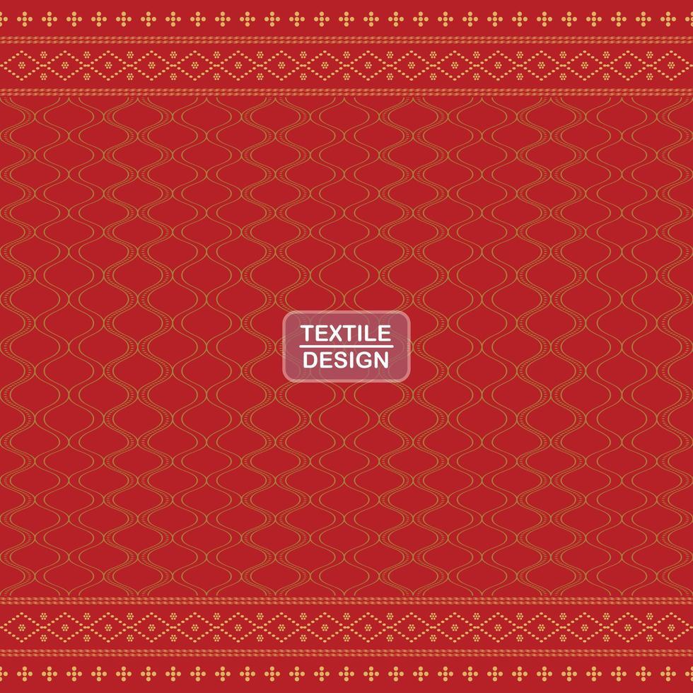 sömlösa röda geometriska motiv ulos batak mönster vektor