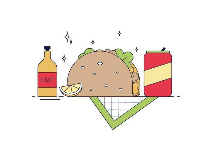 Kostenlose Taco Vektor