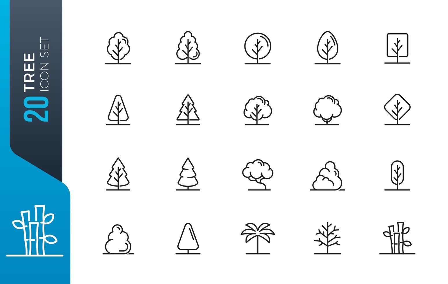 Minimaler Baumsymbolsatz vektor