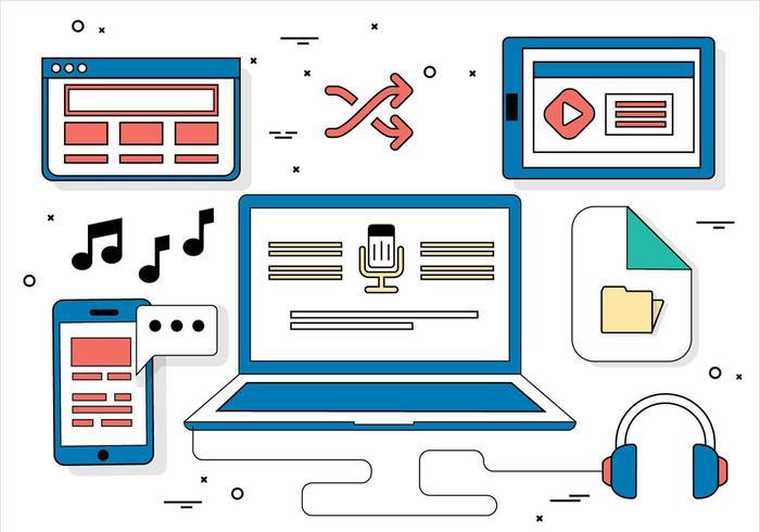 Gratis platta design vektor illustration