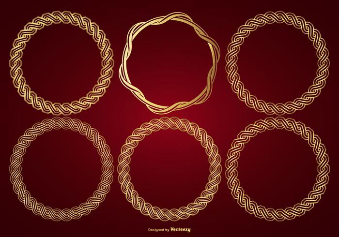 Gold Vektor Rahmen Sammlung