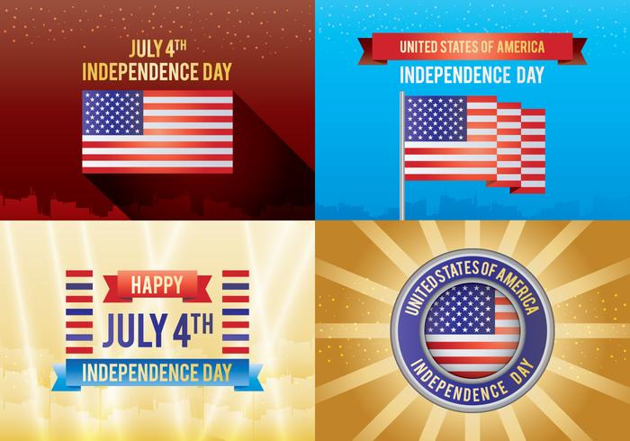 4th of July Independence Day Card vektor