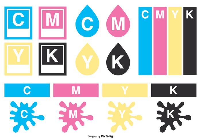 CMYK Vector Elements Kollektion