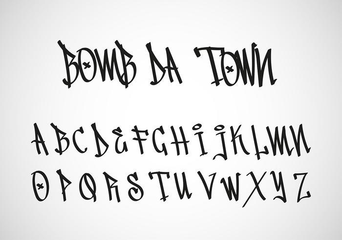 Graffiti Tag Letter Gratis Vector