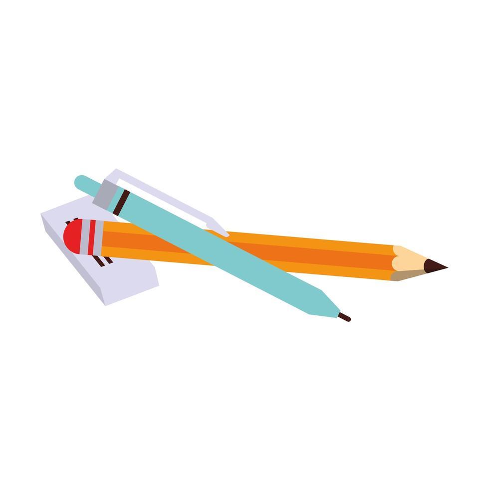 zurück zur Schule und Bildung Cartoon-Komposition vektor