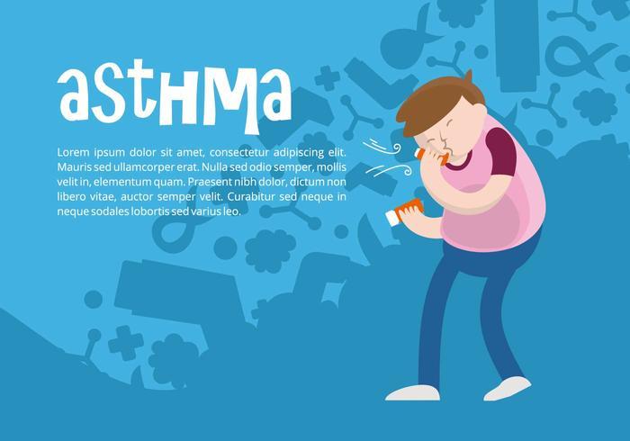 Astma bakgrund vektor