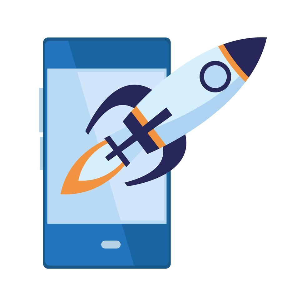 mobiltelefon mobil kommunikation tecknad ikon vektor