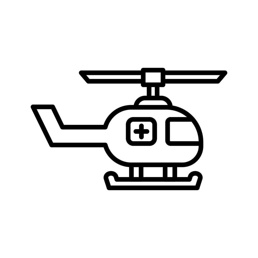 medicinsk helikopter ikon vektor