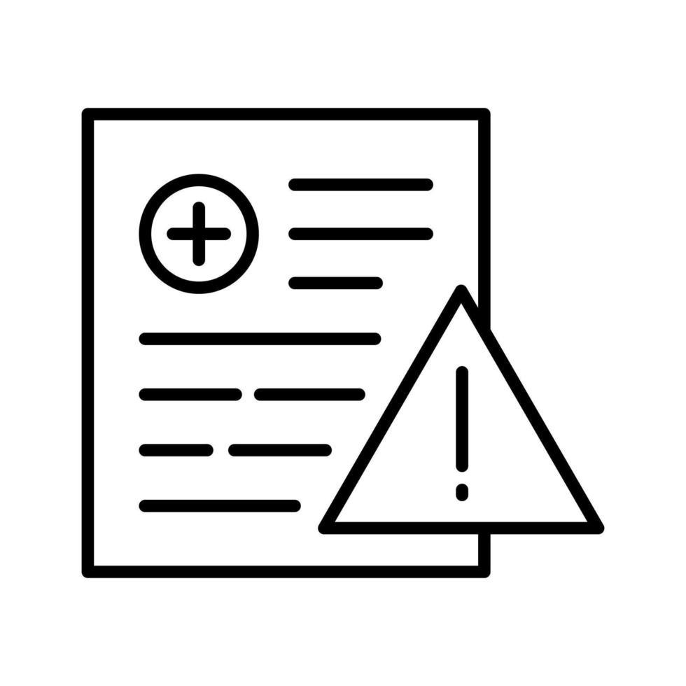 patientvarningsikon vektor