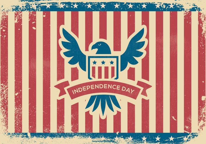 Grunge Independence Day Background vektor