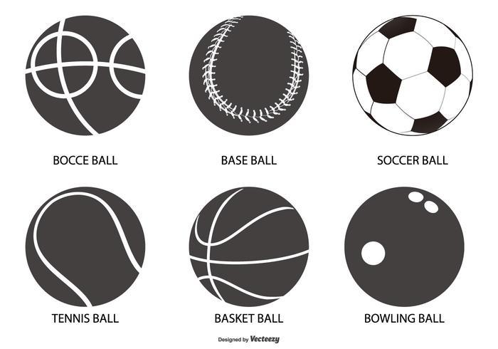 Sport Ball Shapes Sammlung vektor