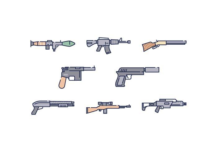 Fri vapen ikoner vektor