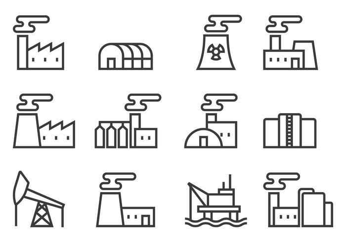 Fabrik Symbole vektor