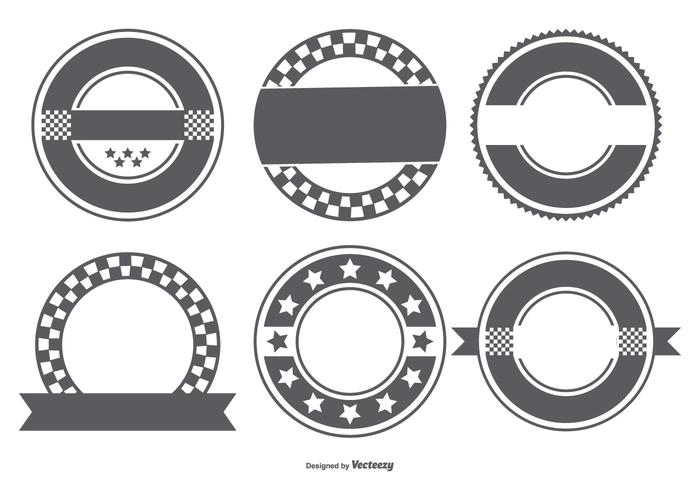 Blank Retro Badge Formsamling vektor