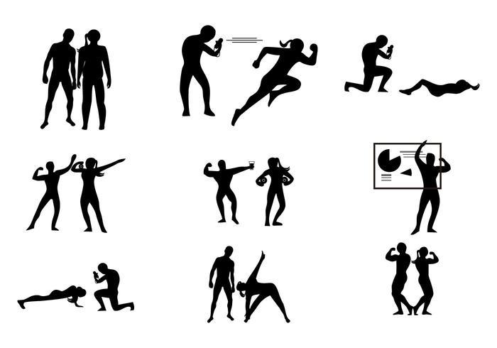 Gratis Gym Personlig Coach Trainer Vector