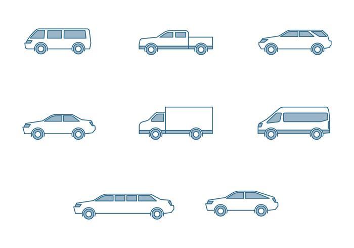 Moderne Autos Icons vektor