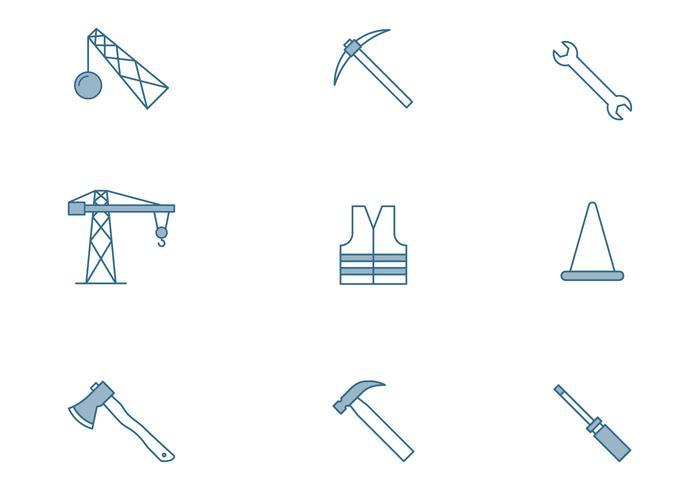Hem och konstruktion Ikon vektor