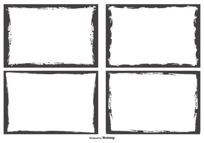 Grunge-Stil-Foto-Kanten vektor