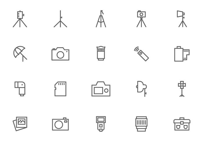 Kamera och fotograferingsutrustning vektorer