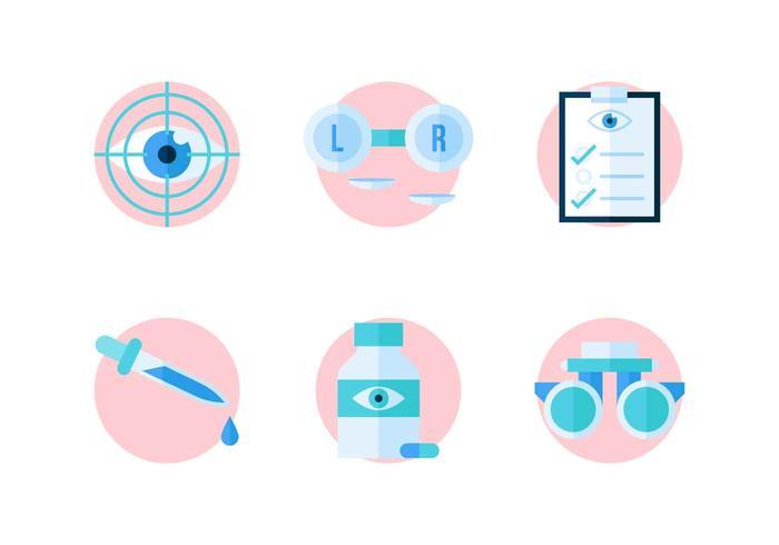 Freie hervorragende Augen-Test-Vektoren vektor