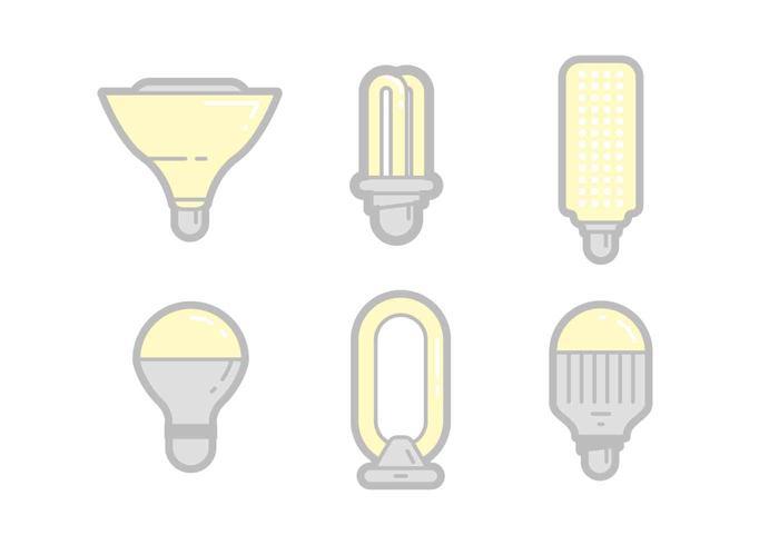 Gratis unika LED-ljusvektorer vektor