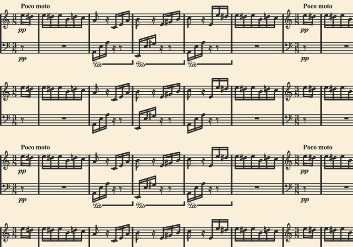 Musik bakgrund med Fur Elise Sonata av Beethoven vektor