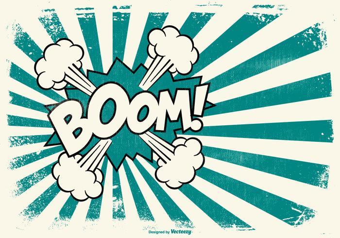Grunge Comic BOOM! Stil bakgrund vektor