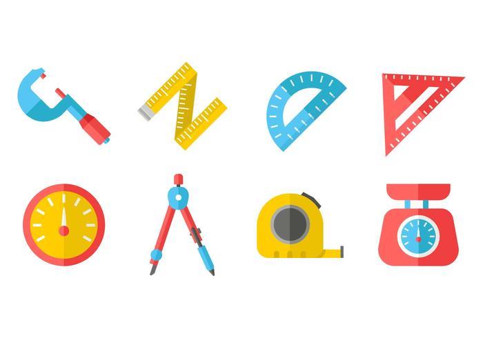 Gratis mätverktyg ikoner vektor