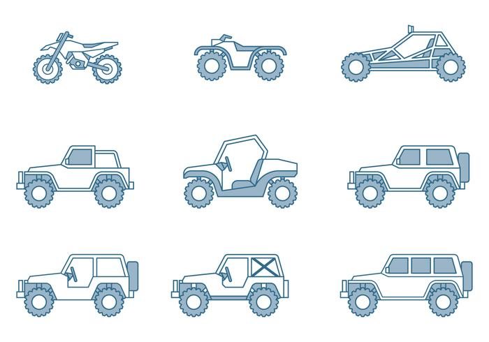 Geländewagen-Ikonen vektor
