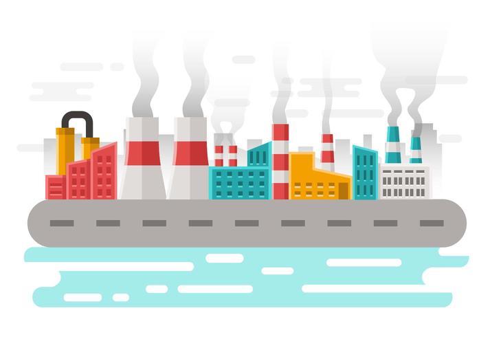 Freie Fabrik Verschmutzung Hintergrund Vektor