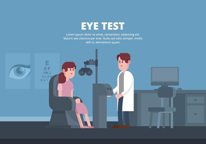 Eye Test Illustration vektor