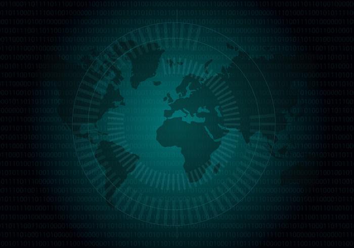 Globe Matrix Bakgrund Vector