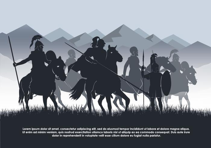 Kavallerie Vektor Hintergrund Illustration