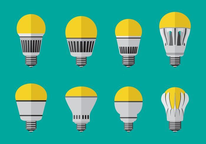 Plana LED-ljusvektorer vektor