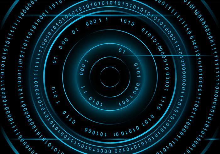 Circle Number Matrix Hintergrund Free Vector