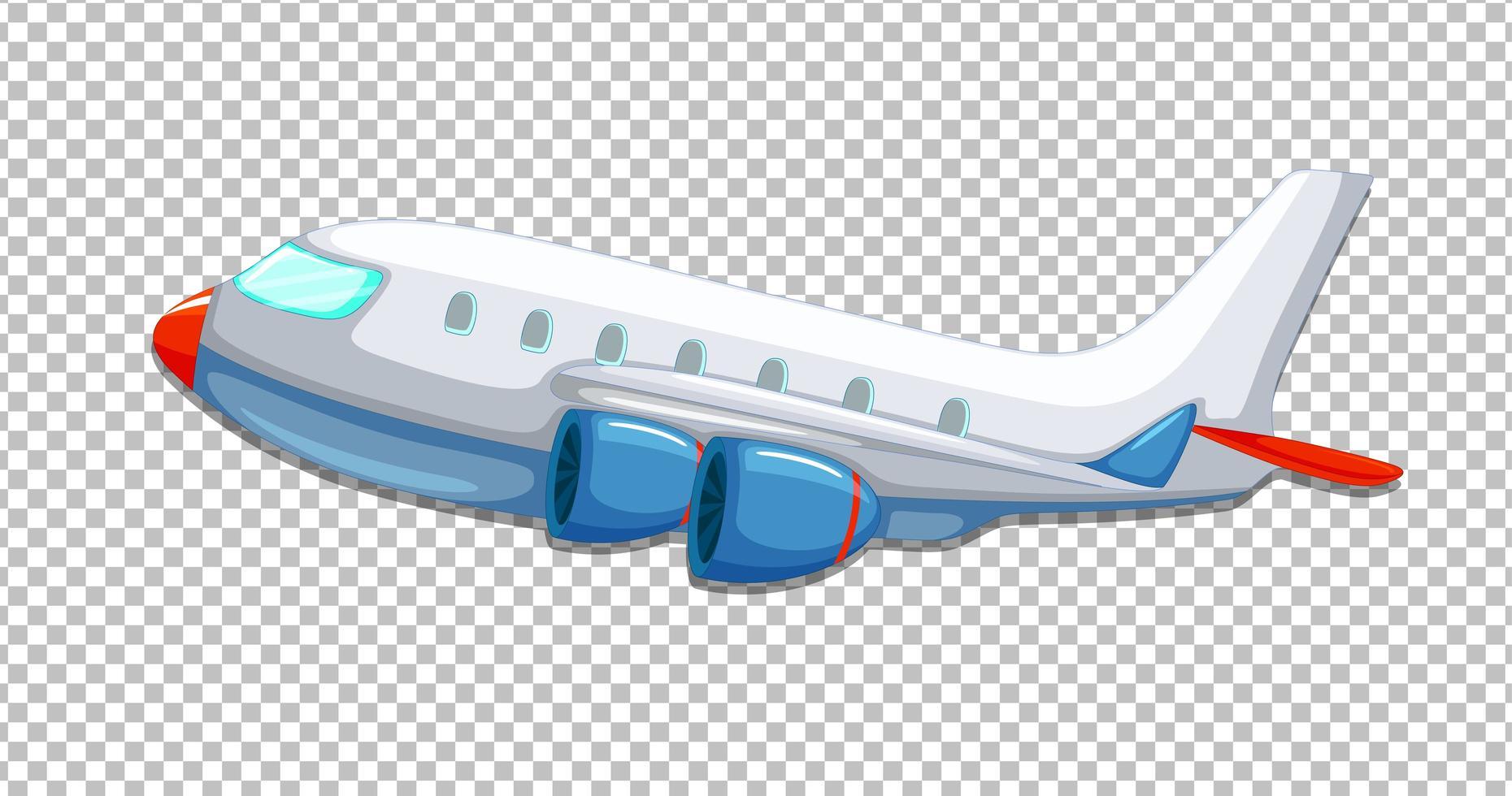 Flugzeugkarikaturstil auf transparentem Hintergrund vektor