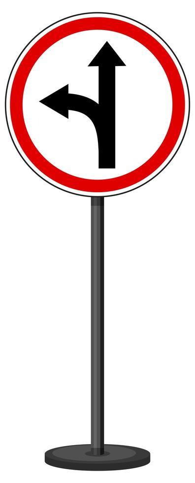rotes Verkehrszeichen auf weißem Hintergrund vektor