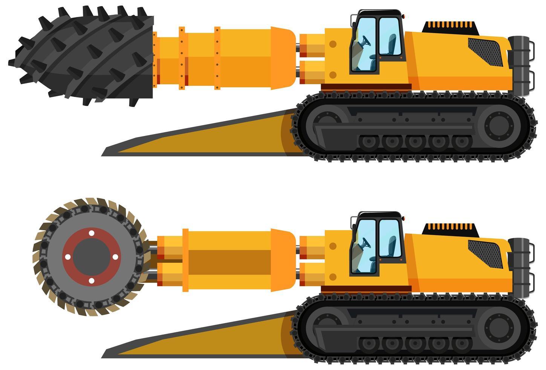 uppsättning av kolbrytare roadheader vektor