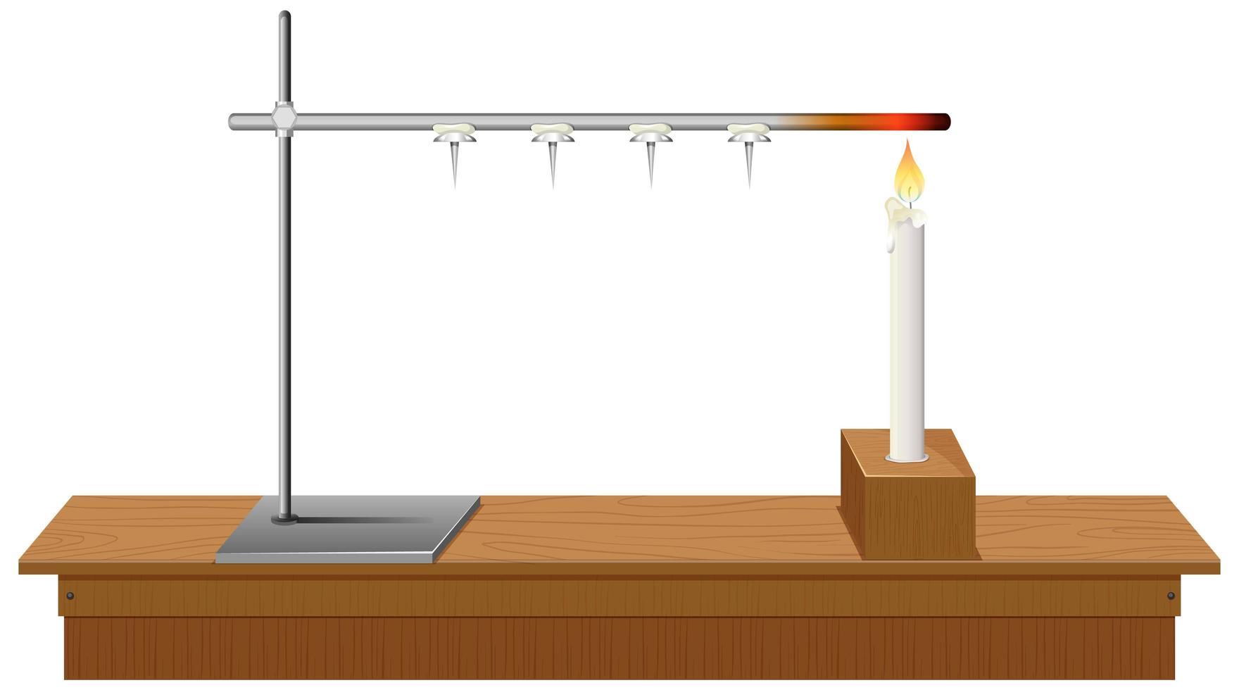 laboratoriestativ på skrivbordet vit bakgrund vektor